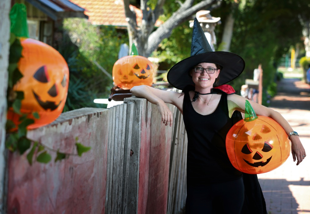 Ceri Ovans, who has cystic fibrosis and has recently undergone a lung transplant, is taking part in the Halloween Fun Run to raise money for Cystic Fibrosis WA. Picture: David Baylis        www.communitypix.com.au   d460590