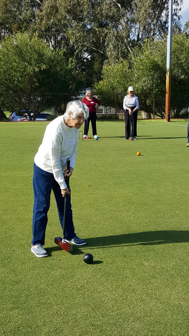 Take a swing: The Bullsbrook Croquet Club meets on Friday afternoons.