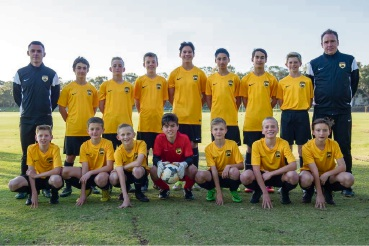 The under-13s team. Picture:Vince Caratozzolo