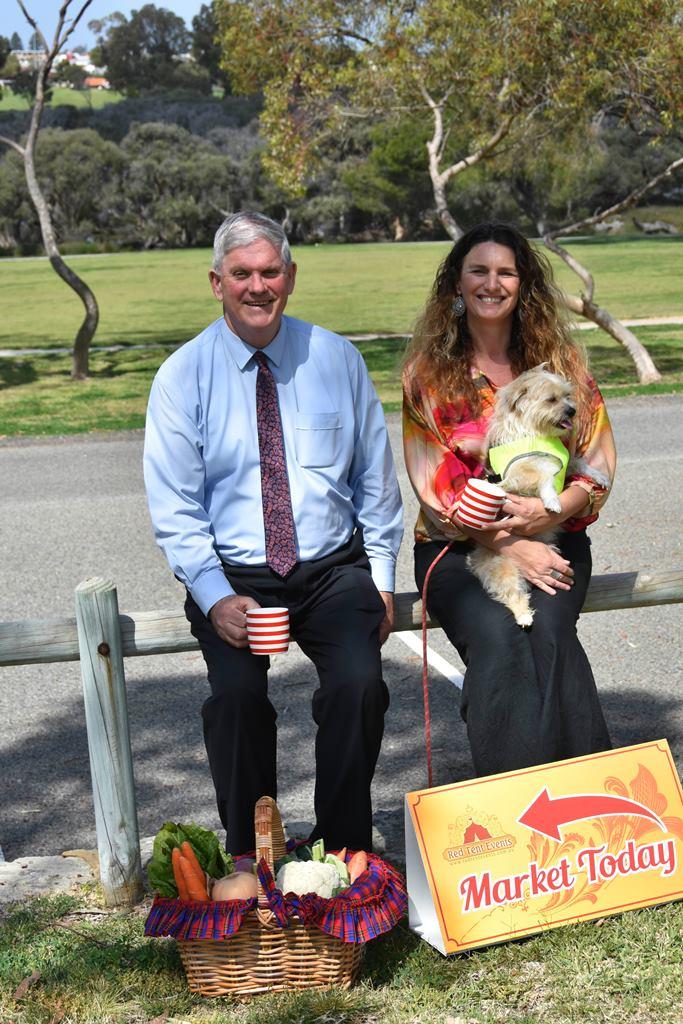Cockburn Mayor Logan Howlett with Kylie Wheatley.