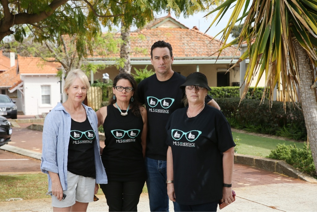 Mt Lawley Society members Shelia Robinson, Phillipa Baines, Tim Hammond and Deb Olle are against Perth College's development plans.  Picture: Andrew Ritchie        www.communitypix.com.au d444570