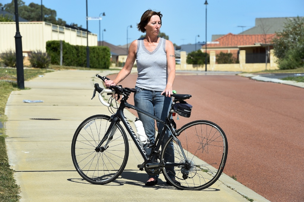 Nicky Guilfoyle was struck by a car while riding her bike.  Picture: Jon Hewson www.communitypix.com.au   d444221