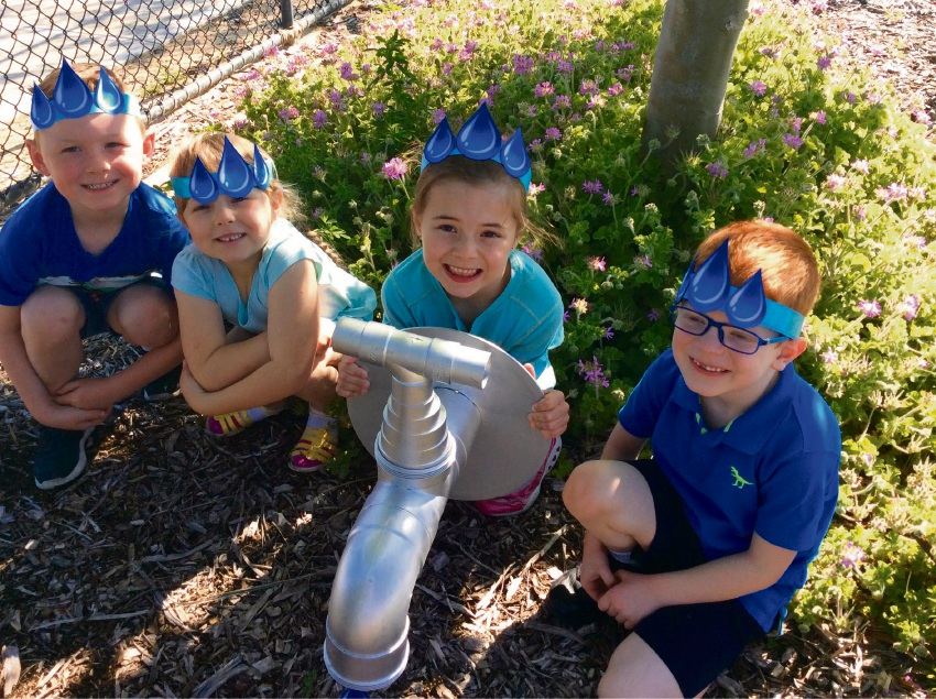 Brighton Catholic Primary School pre-primary students Brendan Tooker, Zanthia Harper, Kayla Tapp and Hugh McIntyre.
