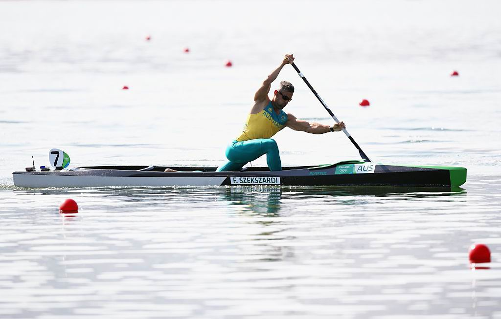Ferenc Szekszardi in the 200m canoe sprint. Picture: Getty Images