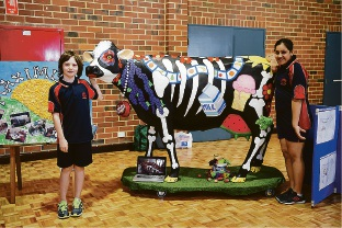 Picasso Cows: local school kids take part in a-moosing art activity