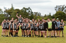 Al Haight chaired off after his 200th game. Picture: Don Benson Photography