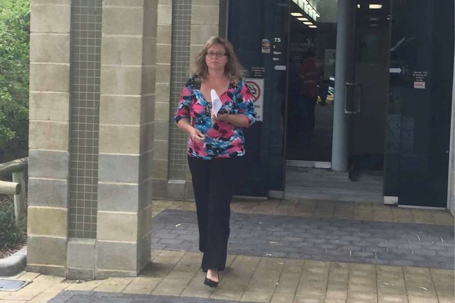 Tanya Botes leaves Mandurah Magistrates Court after pleading guilty. Picture: Kate Hedley