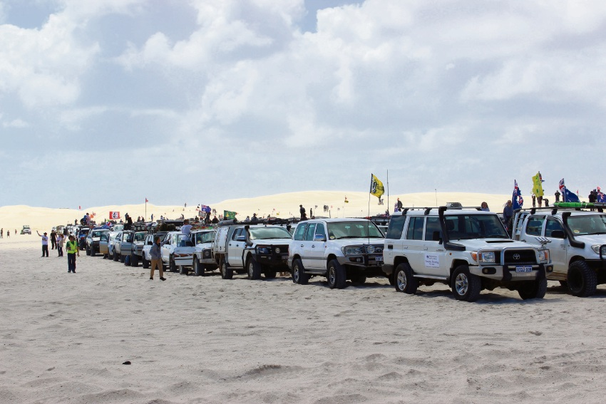 Lancelin Offroad Muster draws recordbreaking convoy