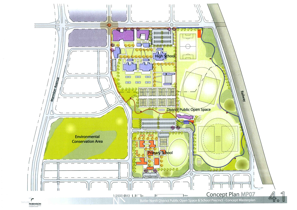 Concept plans for the Butler north district open space.