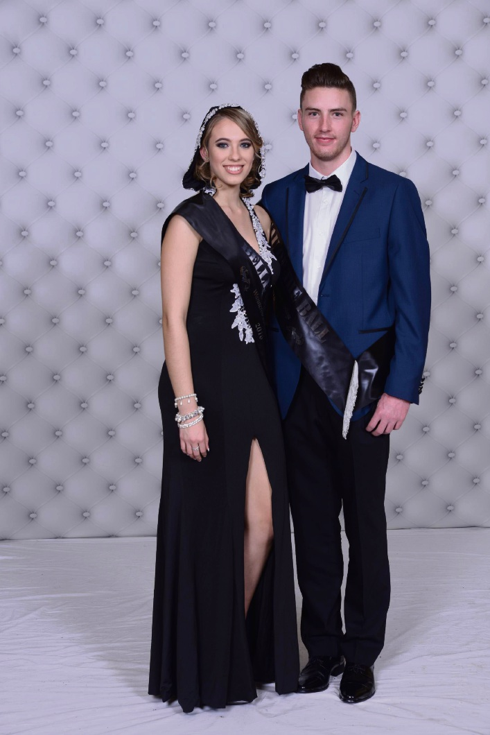 Belle and beau of the ball, Lucia Cilliers and Nathan Graham.