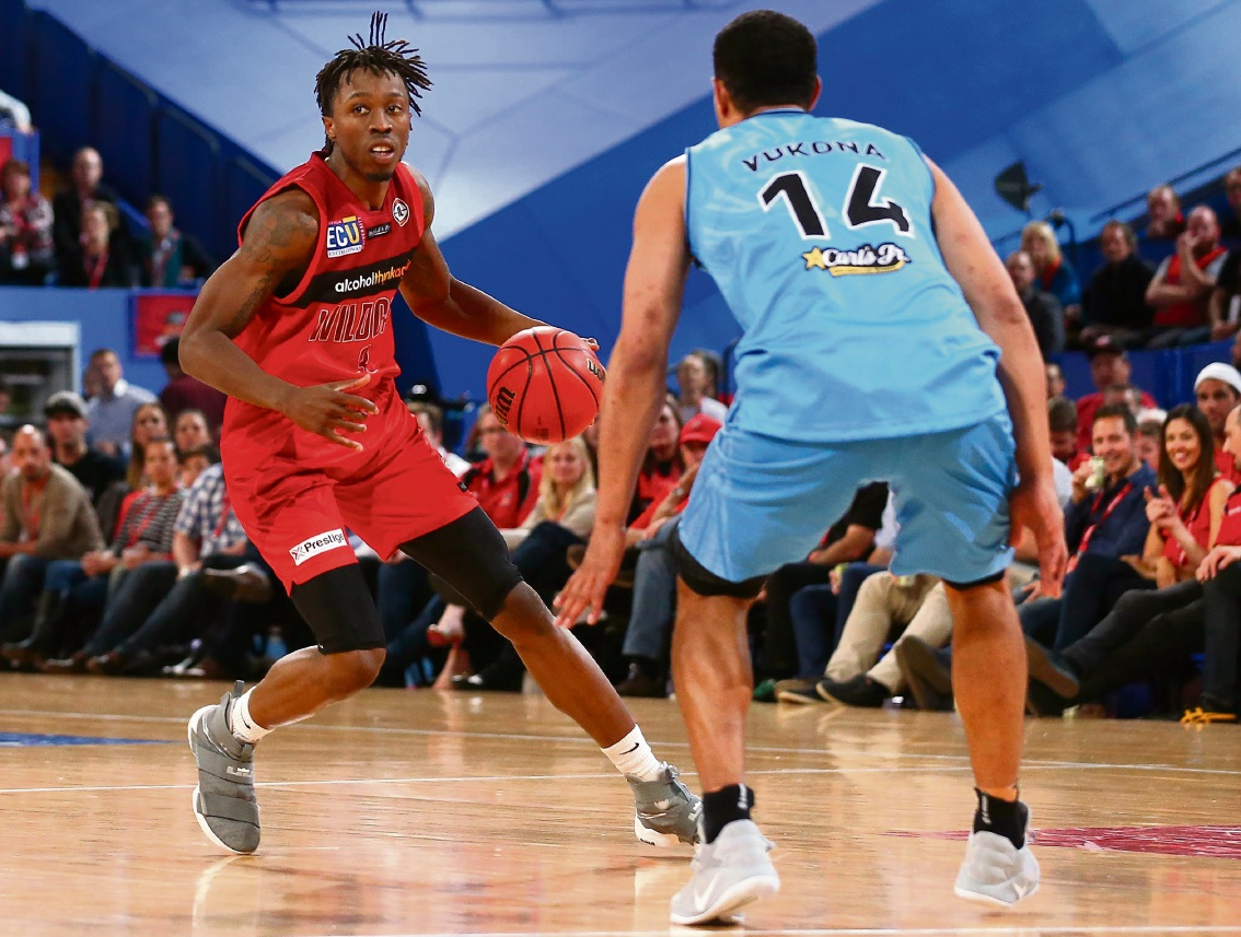 Jaron Johnson in action for the Wildcats last Friday before he was delisted a few days later. Picture: Getty Images