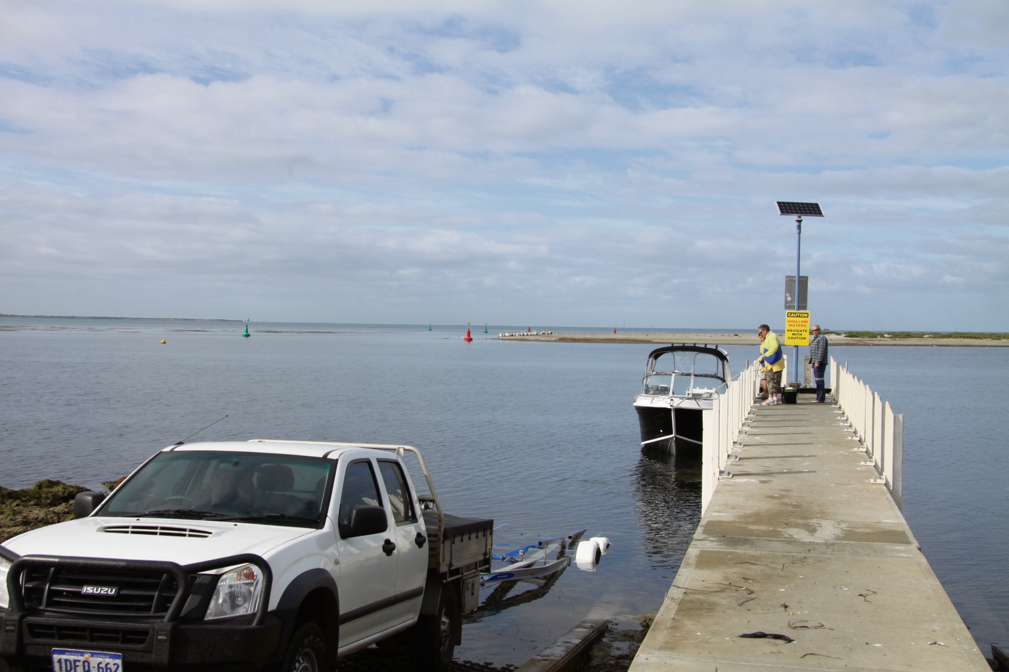 Tern Island affected by Bent St Navigation Channel dredging