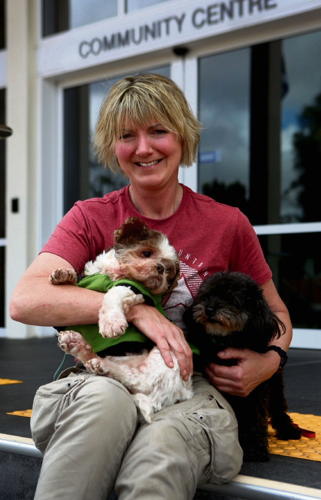 Pepsi and Ralph with Jeane Howes. Best Friends Animal Rescue is holding a fundraising event at the South Perth Civic Centre to open up a Dog Retirement centre. Picture: Matt Jelonek