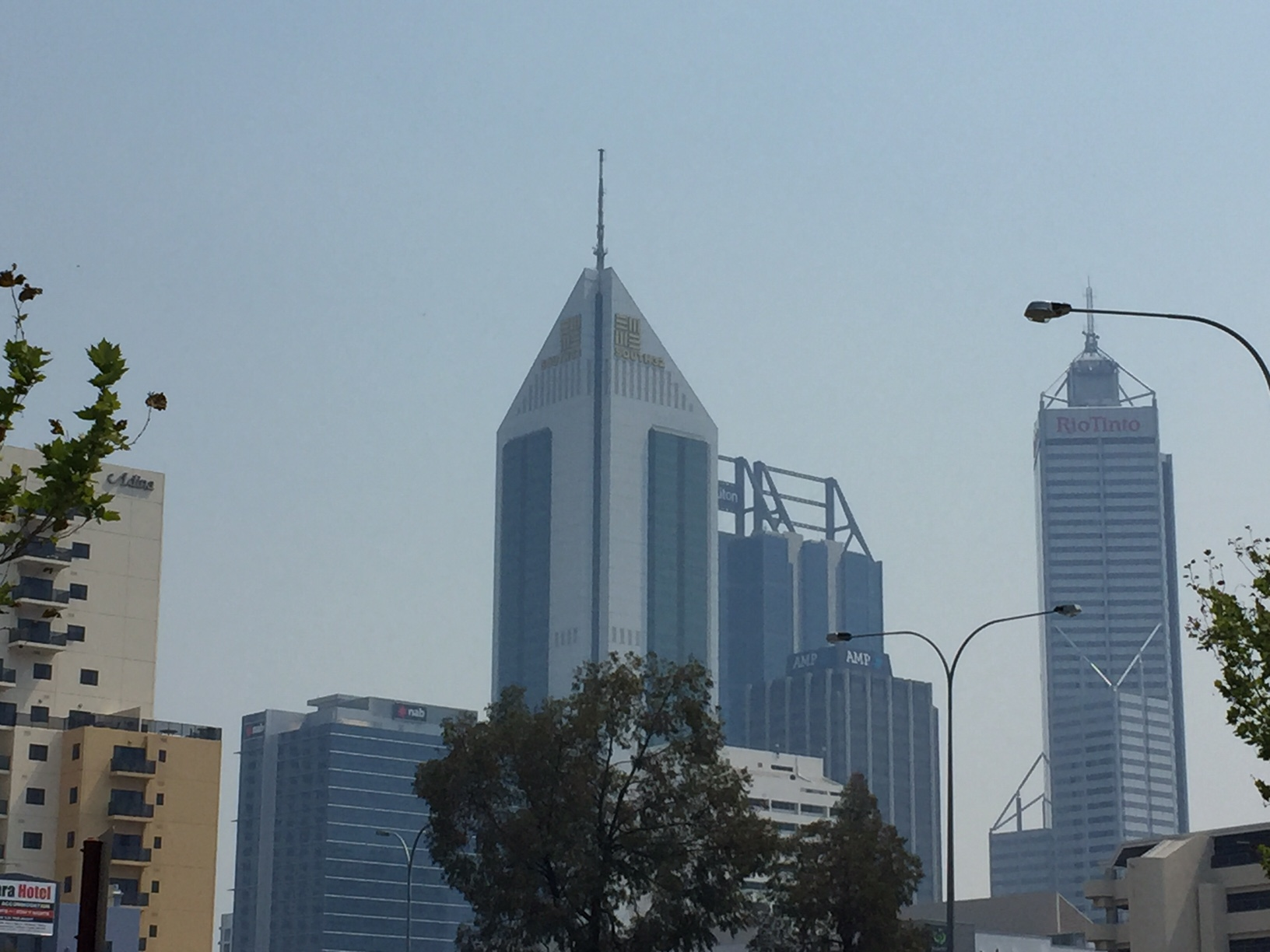 The haze has covered large parts of Perth.