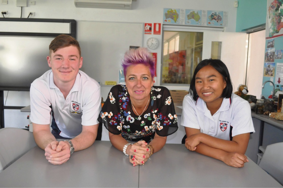 The efforts of Kent Street Senior High School teacher Suzy Urbaniak to impart wisdom on students like Chris Sunley and Lee-an Lu has been recognised.