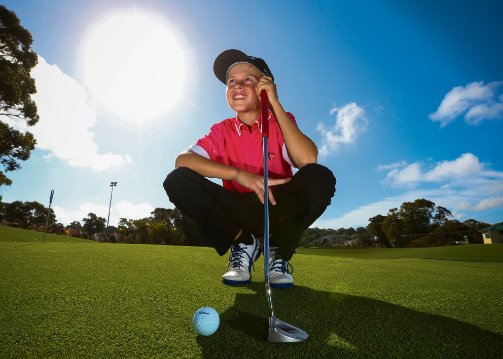 Lachie Hall (11) aspires to a world champion golfer. Picture: Matt Jelonek d460618