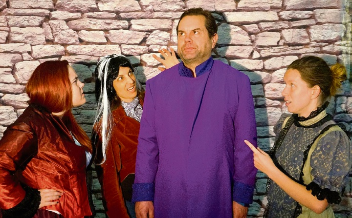Padbury resident Rachael Leech, left, Natalie Djurdjevic, Andrew Smalley and Tia Evers are taking to the stage in Terry Pratchett's Guards! Guards!.