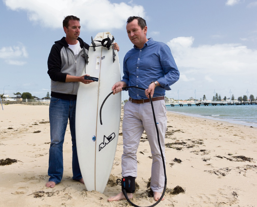 Rockingham MLA Mark McGowan backs drone shark watch