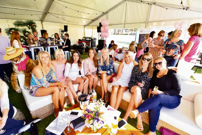 Ladies relaxed in the Pink Marquee whilst the Curtin University Wesley League played CBC Fremantle.