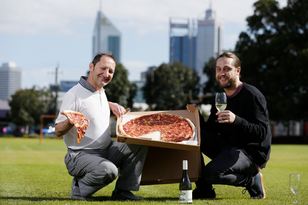 Giorgio Chiera (Mack Daddys) and Lloyd Smith (Clarence's). BeauVine Food and Wine Festival is returning to Birdwood Square from October 21-23. Picture: Andrew Ritchie