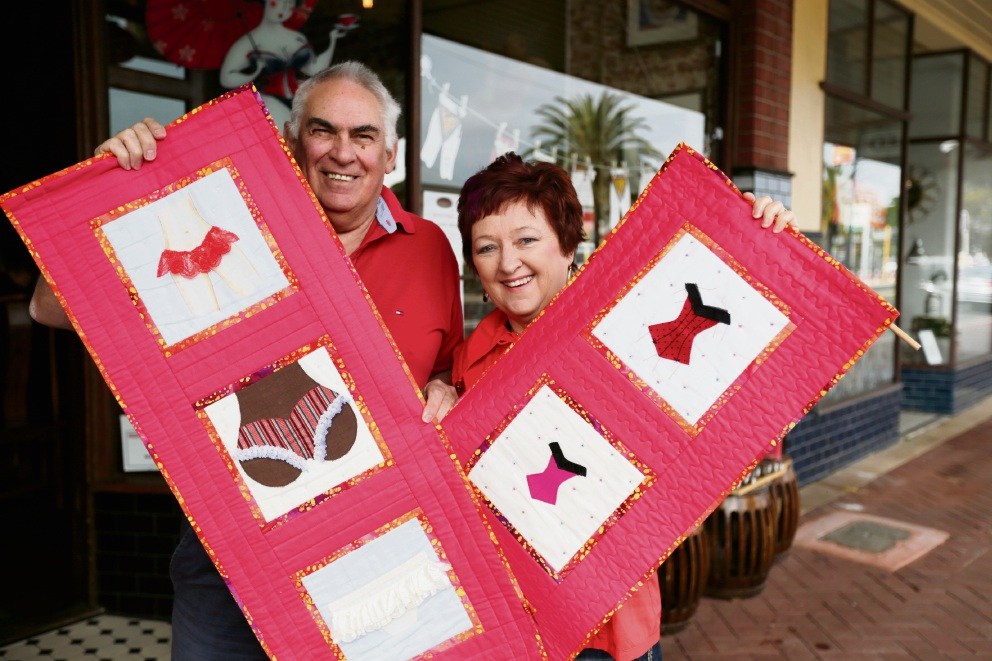 Chapels on Whatley are hosting a display of undies to help raise awareness Picture: Andrew Ritchie