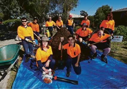 Year 10 Students from Cannington Community Education Support Centre with the Volunteer Task Force Picture: Matt Jelonek