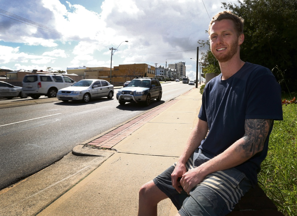 Matt Shales of South Perth has received a Commendation for Brave Conduct as part of the Australian Bravery Awards for saving two people from a burning car crash on Canning Highway. Picture: Matt Jelonek