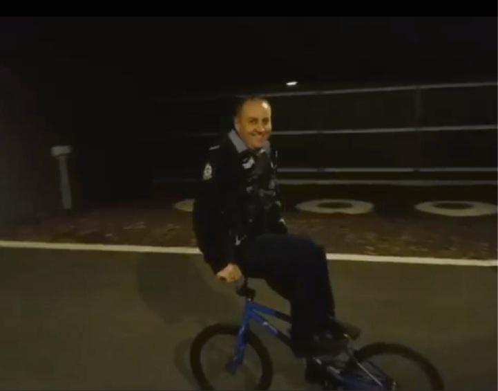 BMX bandit Waroona cop shows off skills