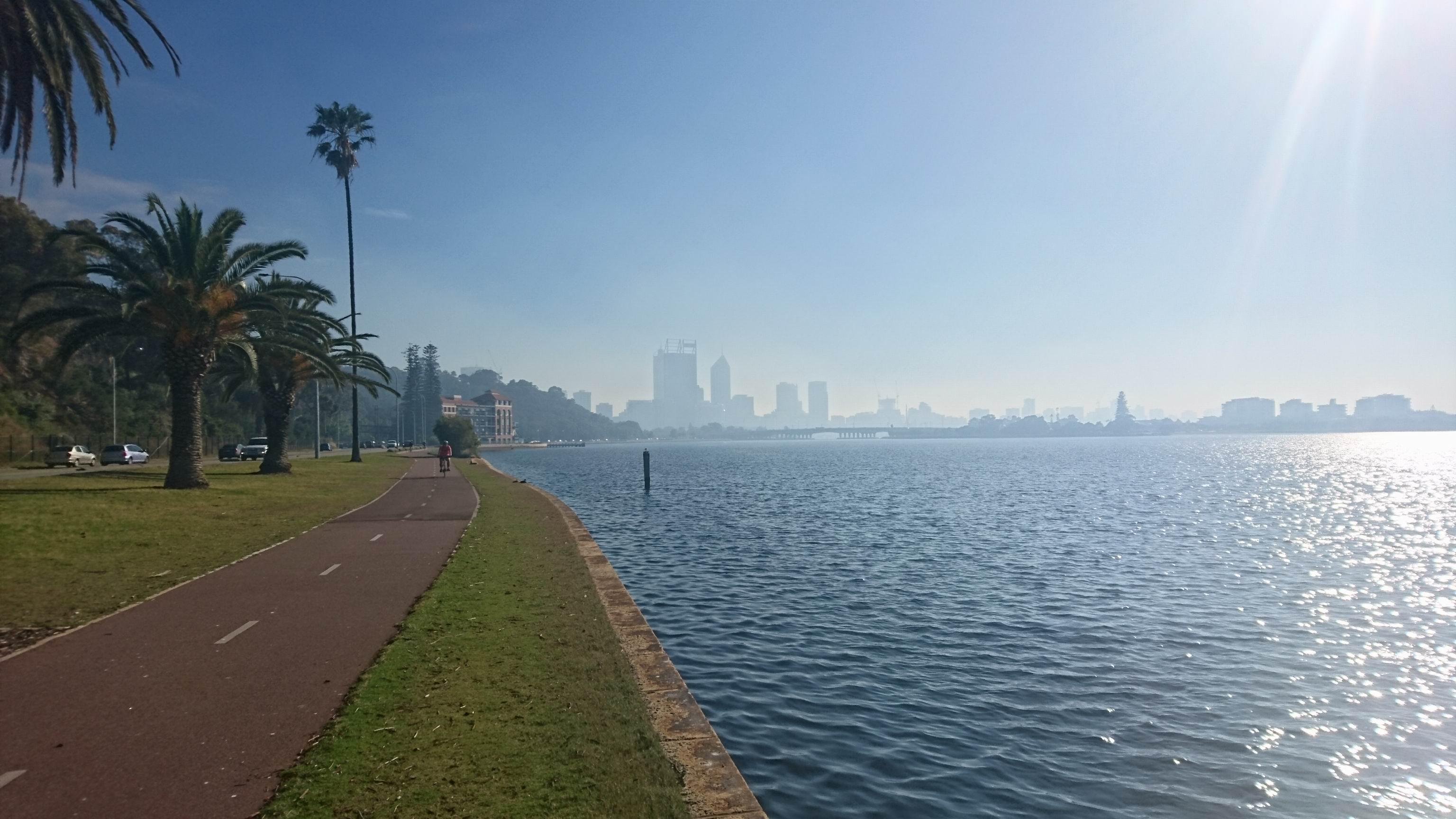 The Perth skyline on Wednesday morning.