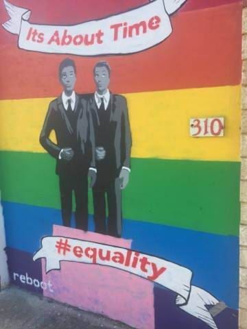 Fremantle: cafe mural tagged with homophobic graffiti for a third time