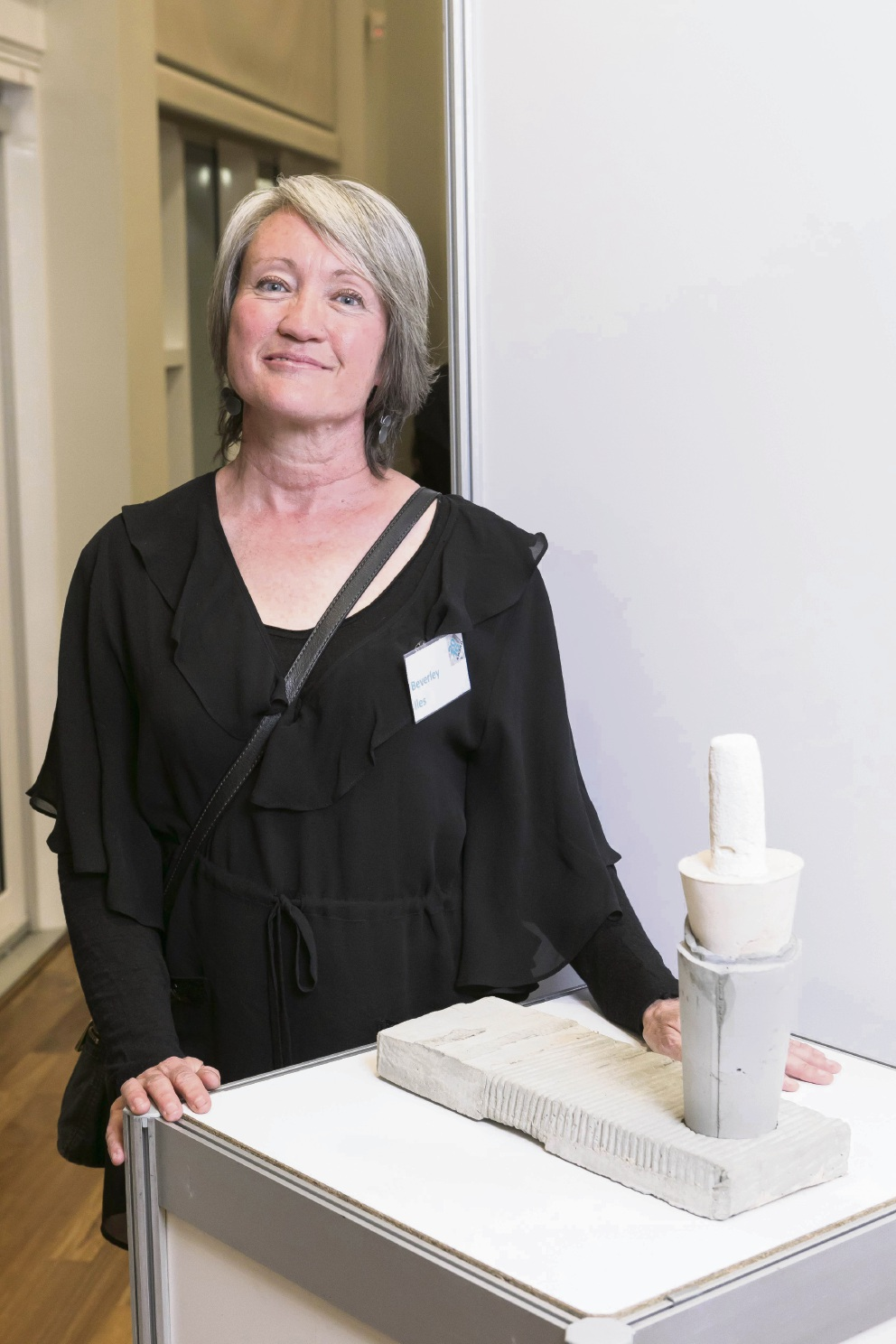 Beverley Iles is happy to win the City of South Perth's Emerging Artist Award; and a close-up look at Beverley Isle's sculpture Stack.