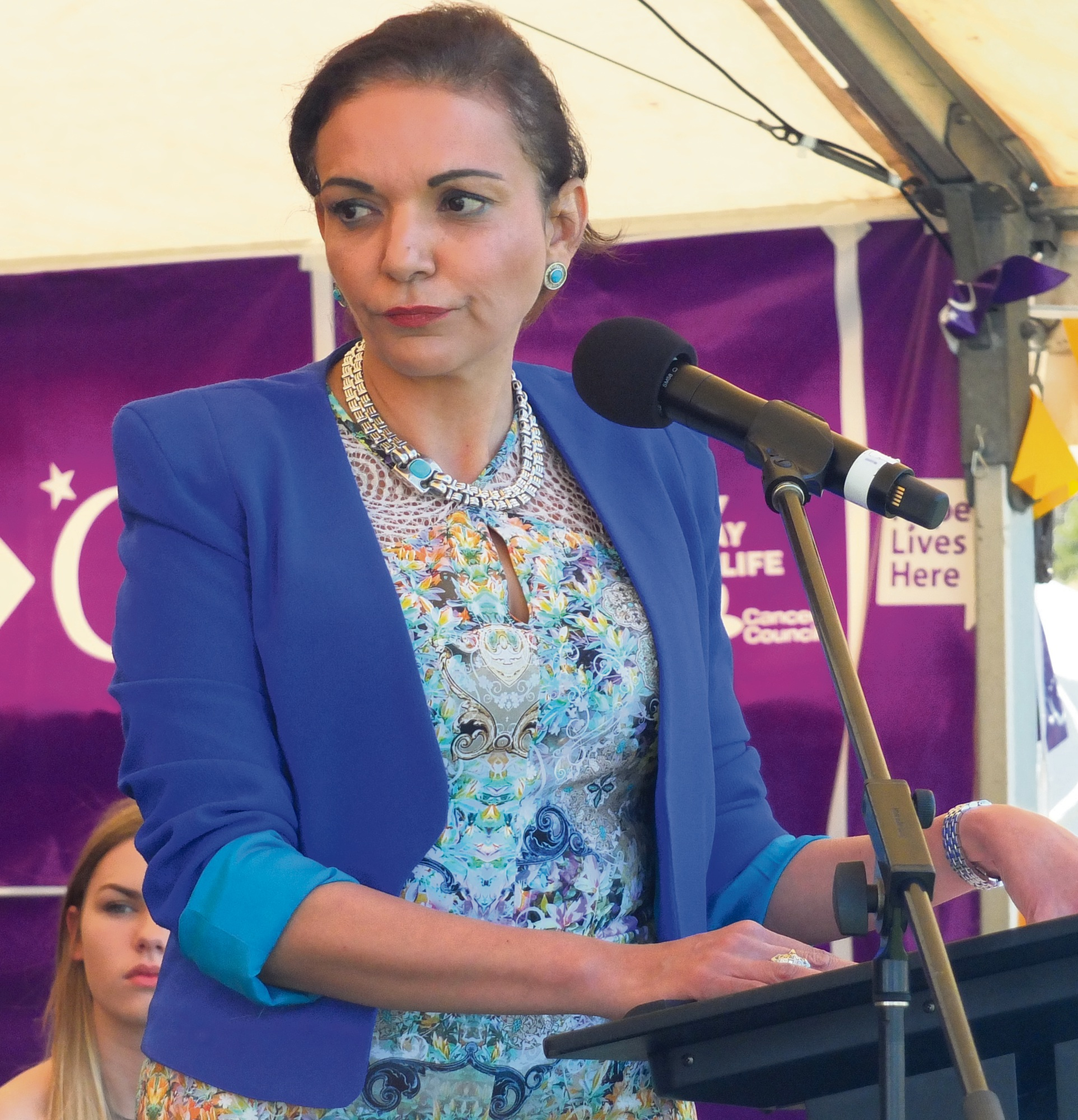 Cowan MHR Anne Aly was MC at the Relay for Life.