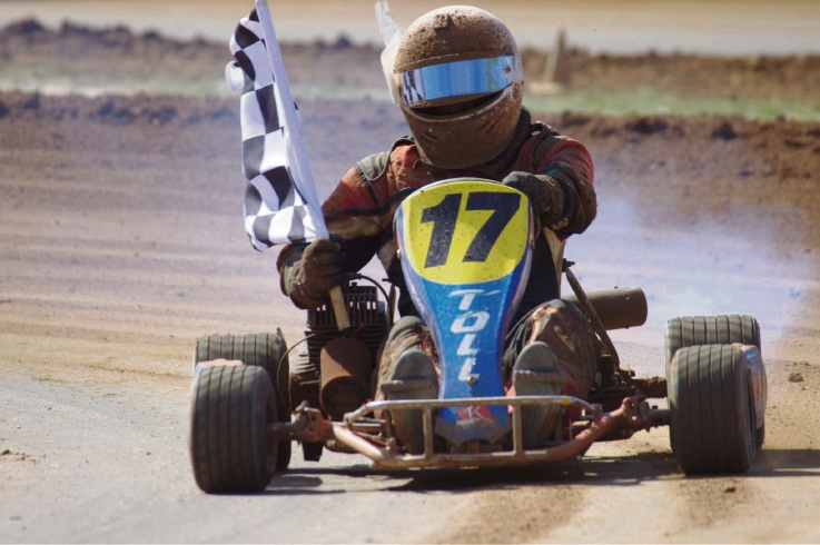 There will be lots of dirt kart action at Oldbury this weekend, starting tonight.