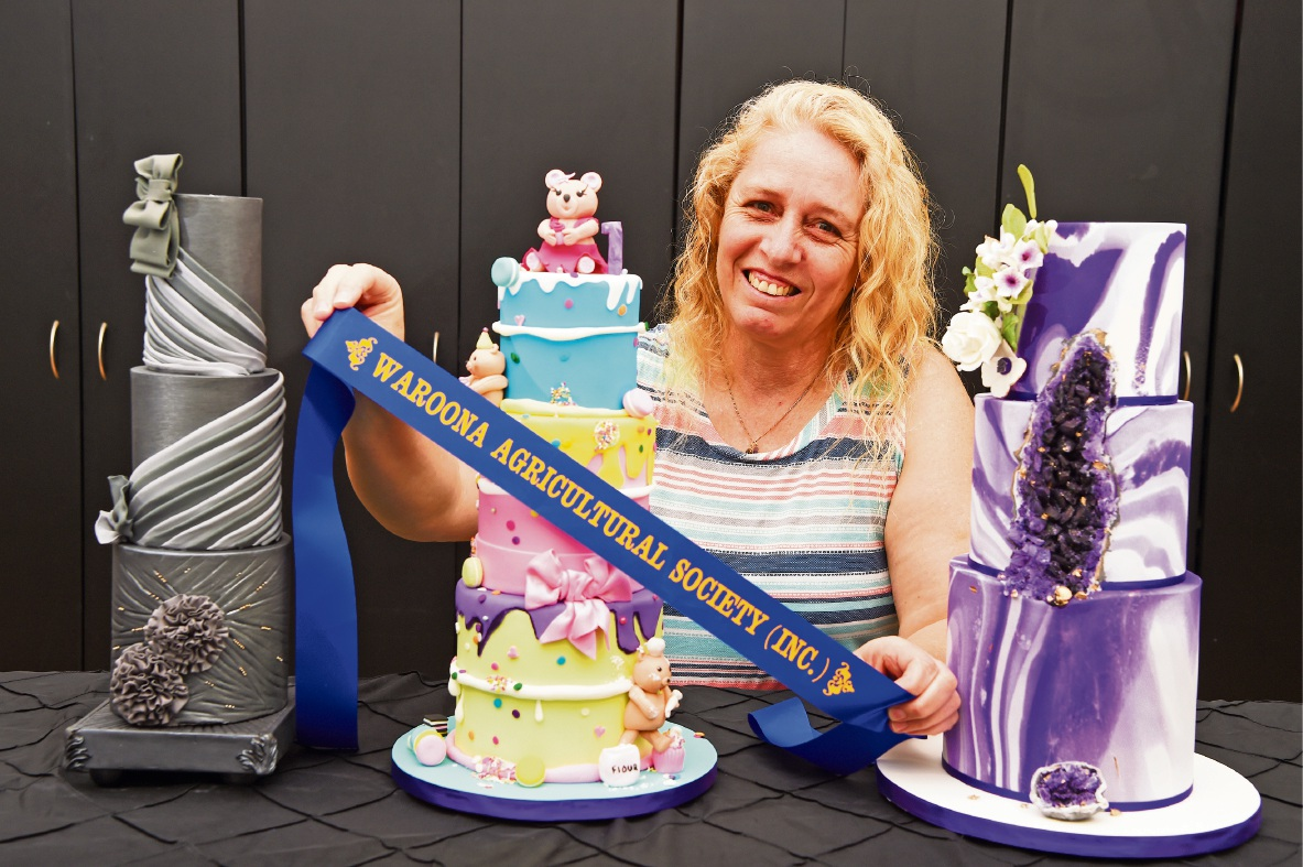 Liz Hogan with some of her cakes. Picture: Jon Hewson