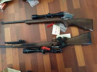 Guns, ammunition, motorbikes and tools were found during a search in Betram this afternoon.