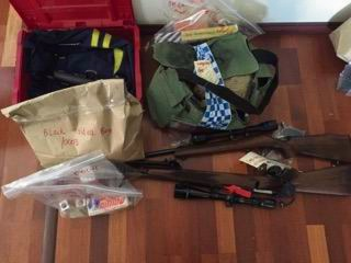 Pinjarra police find guns, ammo, stolen property during Betram search