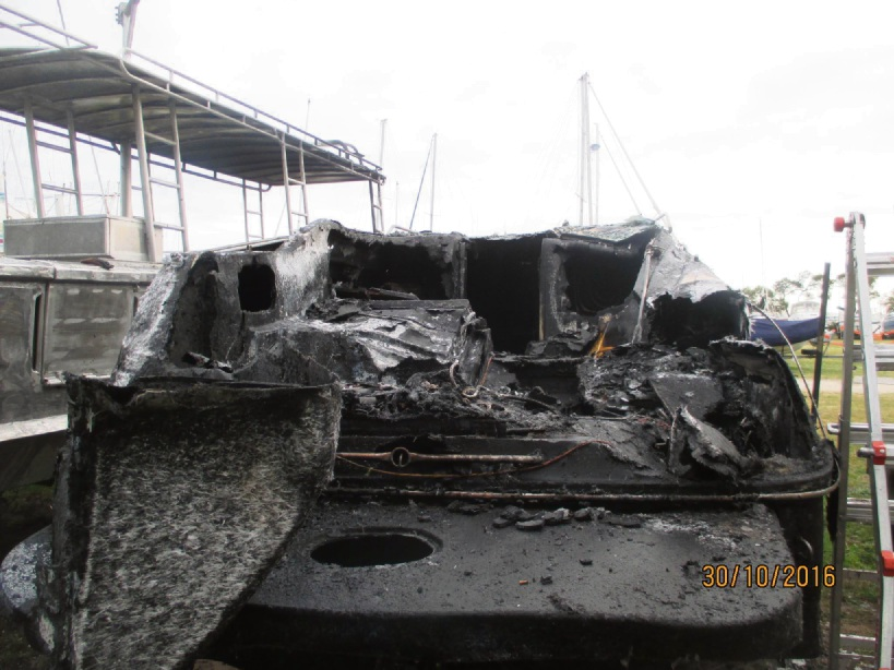 A fire caused about $60,000 to three boats in Rockingham this morning