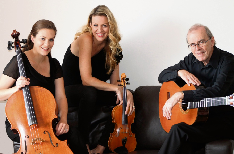 The Walker Trio will perform at Romancing the Stone Gardens on Friday.