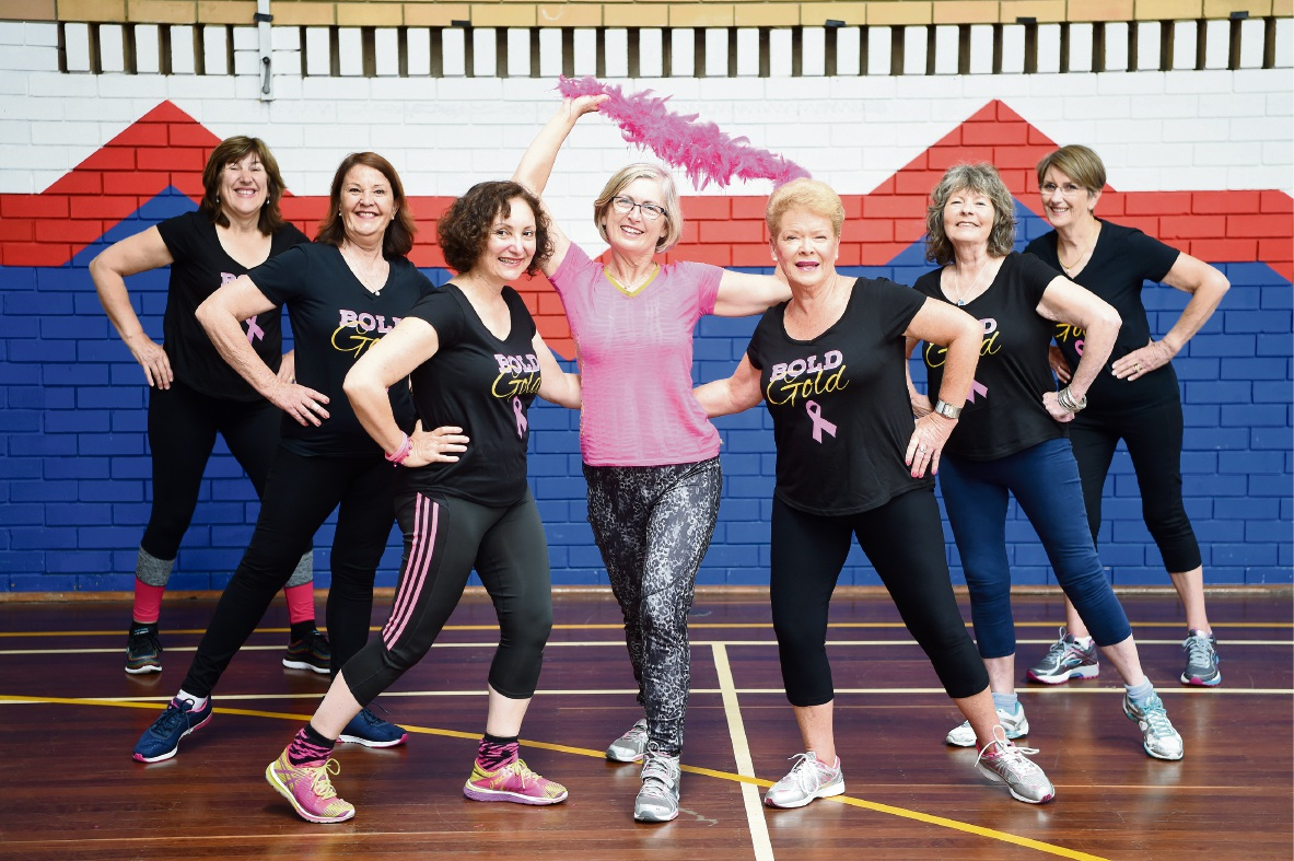Deb Ruggiero with Zumba fans Faye Velichovski, Maxine Illingworth, Josephine Jolly, Lorraine Della, Gerri Devenish and Sue Broad.