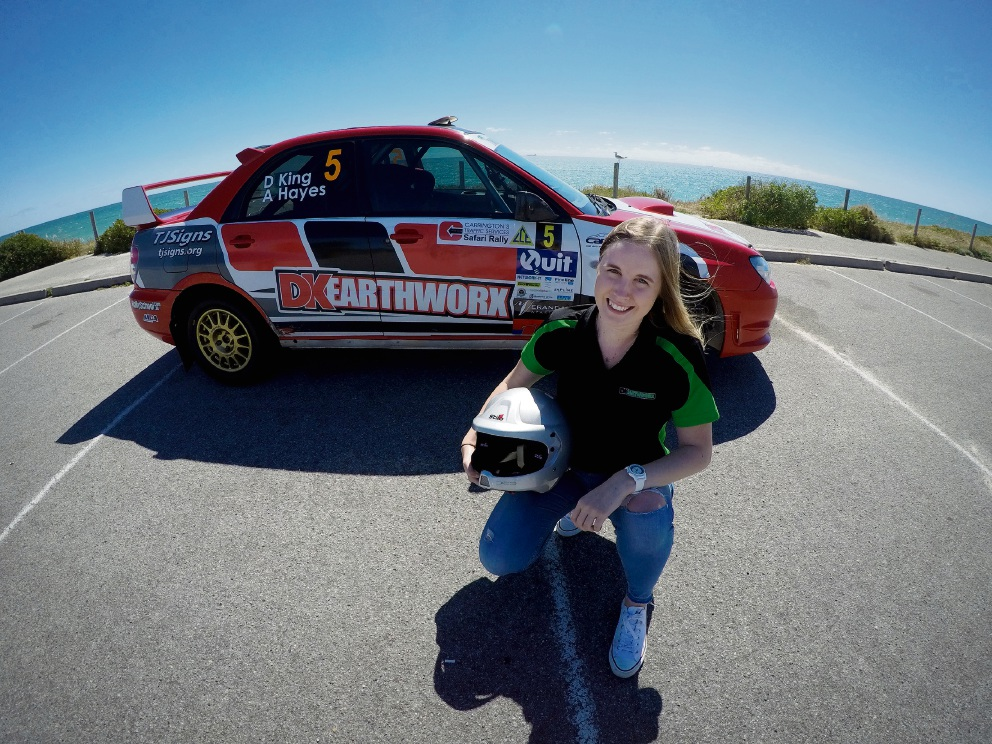 Wembley Downs rally driver teams up with boyfriend to make WA Rally Championship history
