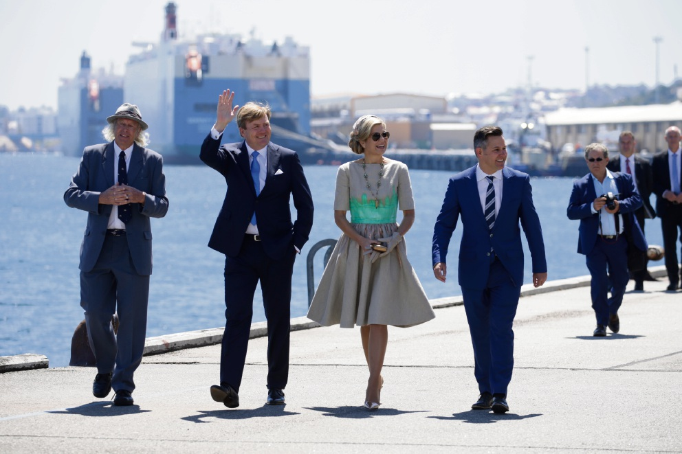 Fremantle plays host to Dutch royalty