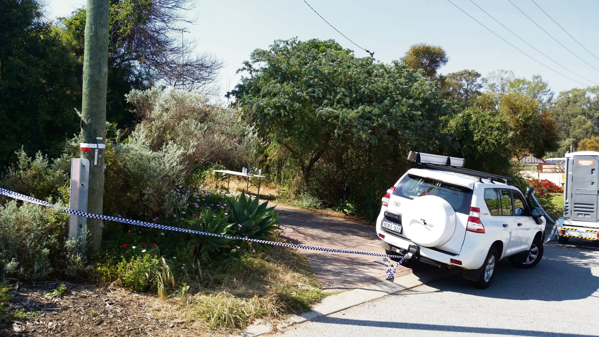 The crime scene on Cromer Gardens, Parmelia