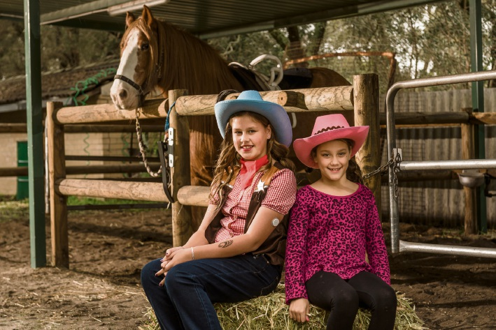 Sophie Anti (11), pictured with her sister Felicity (8), is the junior ambassador for Convicts for a Cause.