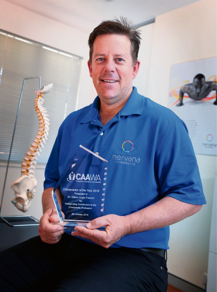 Chiropractor Glenn Farrant has been recognised for his work. Picture: David Baylis        d461027