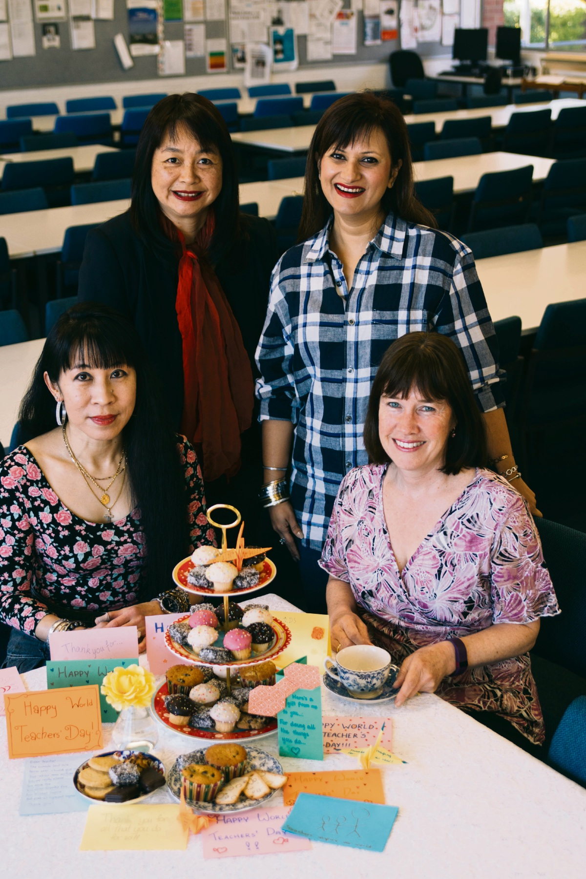 Tina Mahesvaran, Helen Wong, Rohini Bakshi and Tanya Picen.