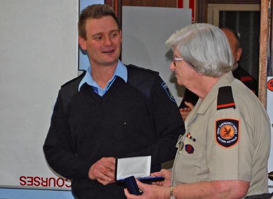 Mandurah SES's Pat Port wins national award for more than 15-year's service