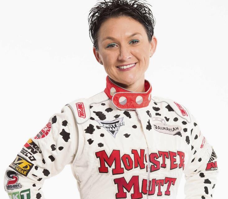 Monster Mutt Dalmatian driver Candice Jolly.