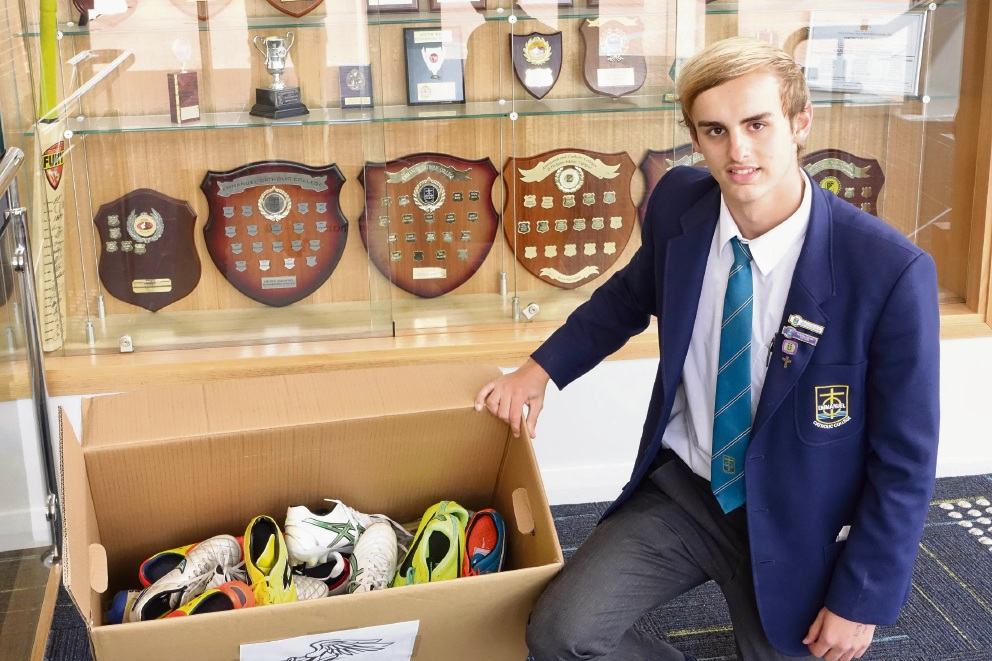 Boots for the Boys: Emmanuel Catholic College students collect boots for Indigenous communities