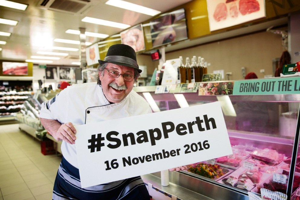 Mondo Meats owner Vince Garreffa has thrown his support behind the #SnapPerth campaign. Picture: Andrew Ritchie.
