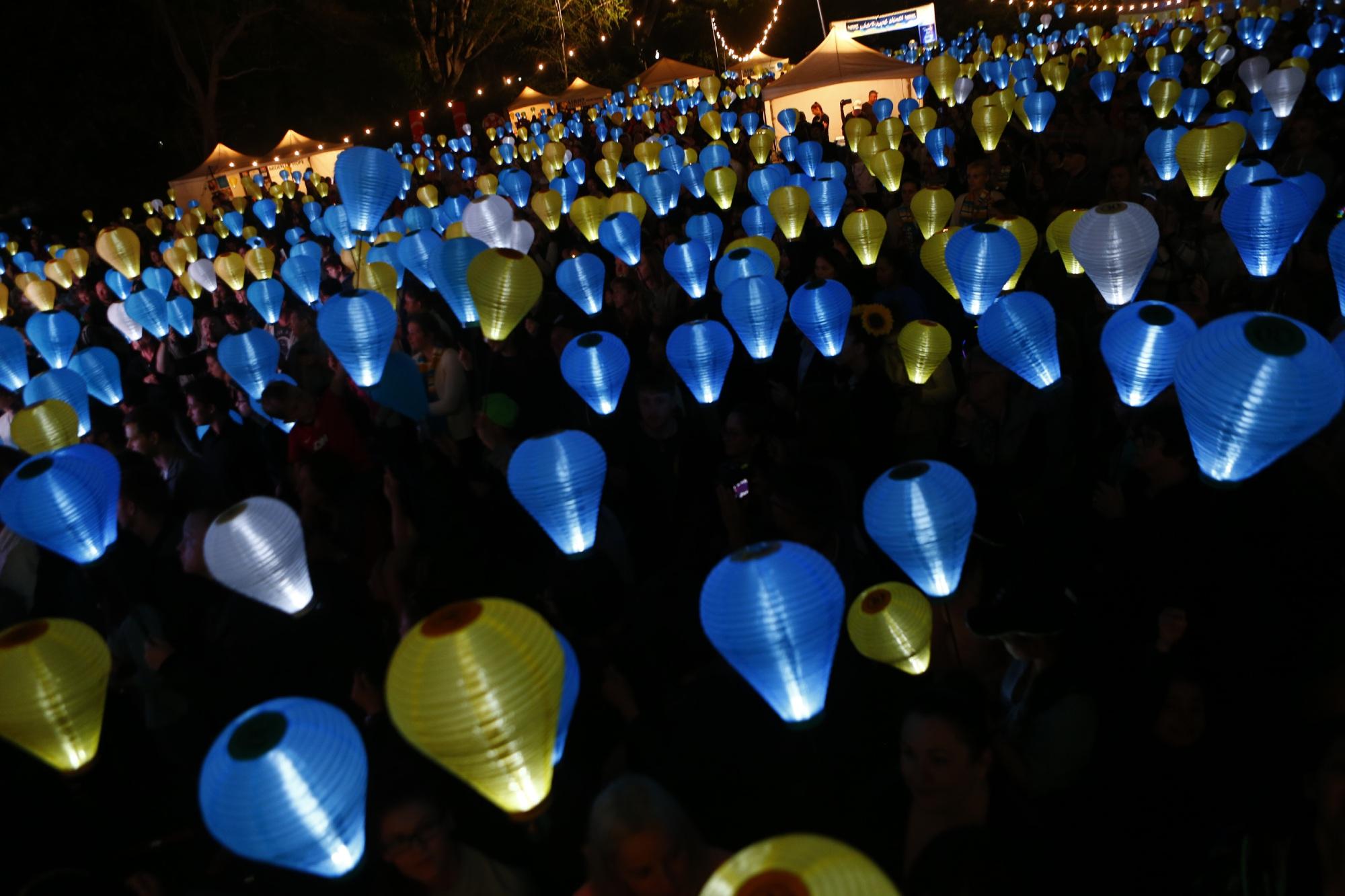 Light the Night Walk: people gather at UWA to raise money for Leukaemia Foundation